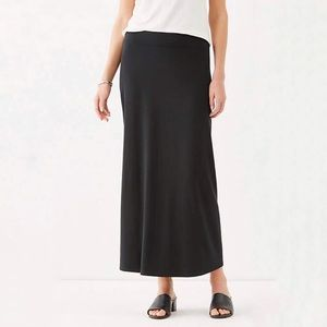Coldwater Creek Black Maxi Skirt Petite L